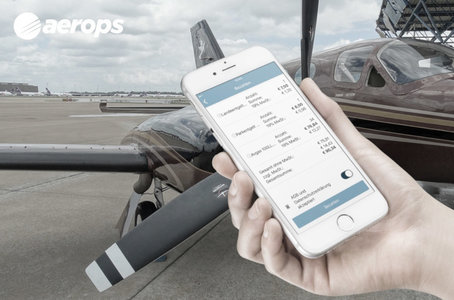aerops pilot payment app at an airport pay landing fees by smartphone